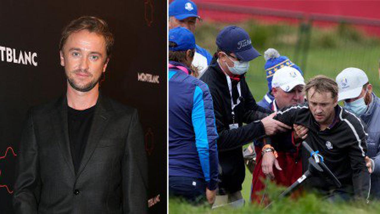 Harry Potter star Tom Felton stretchered off golf course after incident