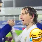 Real Madrid Fans Will Love What Luka Modric Told Pique After He Wanted To Complain To The Referee