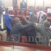Photos As MCAs Fight In Nyamira County Assembly