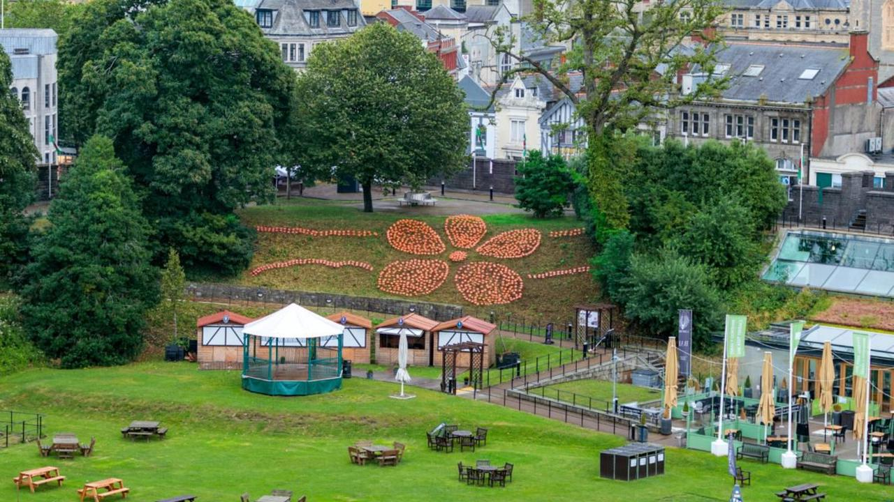 Cardiff Castle flower display opens to the public