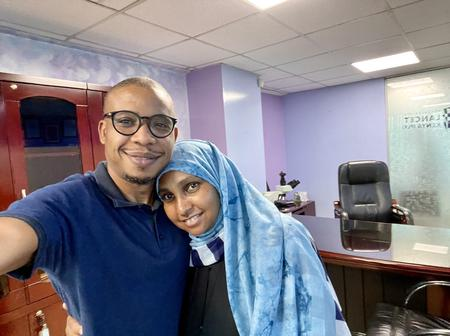 Photos: Beautiful Moments As Lancet Lab CEO's Family Went To Pick Him On His Last Day In Office