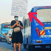 Lady, Graduate Takes To The Street To Beg For Job, Check Out What She Wrote In A Paper