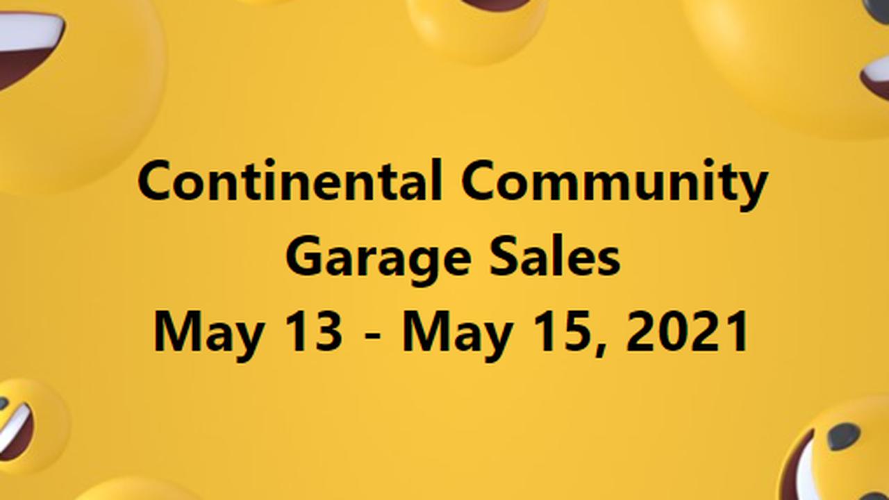 Continental Community Garage Sales: May 13 – 15