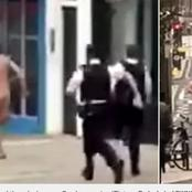 What this man did that caused him to run away naked in the street