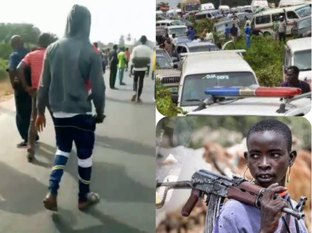 (Video) Travellers Fear For Their Lives In Benin As Fulani Herdmen Allegedly Block Road
