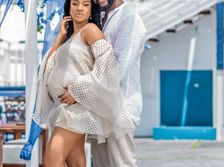 Reactions As Actress Adesua Etomi And Hubby Banky W Welcome First Child Four Years After Marriage