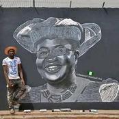 See the Huge Portrait of Ngozi Okonjo Iweala which was drawn by a Nigerian Artist, Bamaiyi Danladi.