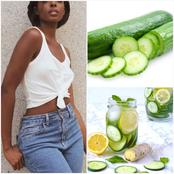 Soak Cucumber, Ginger And Lemon Inside Water Overnight Then Drink on Empty Stomach. See What It Does