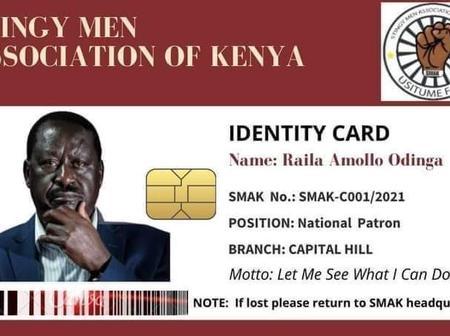 Kenyans React On Raila's 'Stingy Men Association ID' Circulating Online