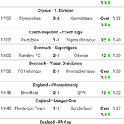 Saturday; sure teams to win tonight with over 104odds