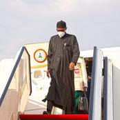 Buhari Returns To Nigeria After Two Weeks Medical Checkup In London.