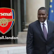 Aliko Dangote finally disclosed when he will buy premier league club Arsenal (see the date).