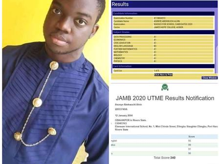 Remember The Boy Who Got 9 A1 in WAEC and 340 In JAMB? See What People Are Saying About Him