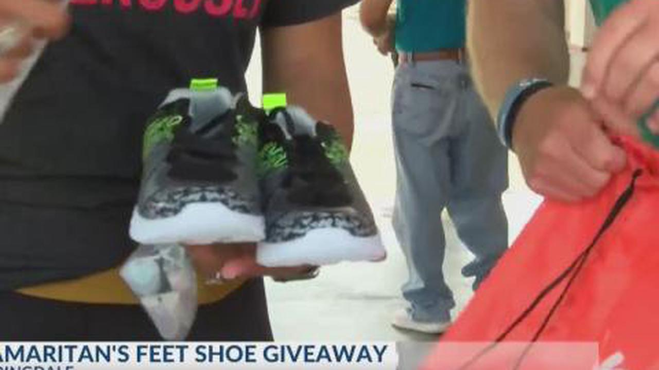 Samaritan's Feet provides 400 Springdale students with new shoes