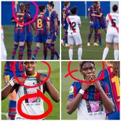 5 Days After Her Step-Mom Died, See How Oshoala Reacted When Barca Players Honoured Her Late Mum