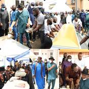 Checkout Photos of Top Politicians Who Joined Gov Wike as He Laid His Uncle to Rest Today in Rivers