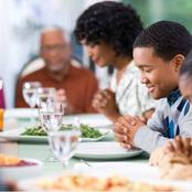 3 Prayer Points You Should Say Before Eating In Public(Photos)