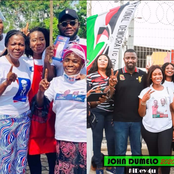 John Dumelo And Hon Lydia Alhassan Celebrities Campaign Team, Who Is More Influential? (Photos)