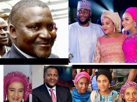Aliko Dangote Will Be 64 In 3Days Time; See Photos Of His Ex-wife And Three Beautiful Daughters