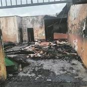 Mortuary burns to ashes