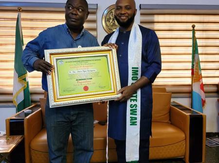 Sports Writers Association of Nigeria, Imo State Chapter, honours Amara Iwuanyanwu as patron