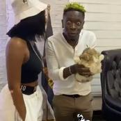 """Control Yourself"" - Fans Mock Shatta Wale When He Met Wendy Shay For Naming Ceremony"