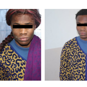 Nigerian Man Caught Disguised As A Woman After Allegedly Committing Grievous Crime In Libya