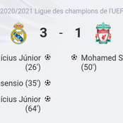 Rapport du Match: Real Madrid 3-1 Liverpool