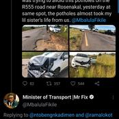 This is how Fikile Mbalula reply to queries, see what he said to complainant on Twitter