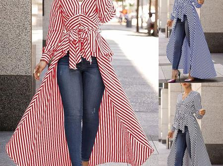Forget Ankara And Lace Tops, See 60 Trendy Chiffon And Satin Tops To Rock On Jeans
