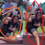 See what a lady did with her body at the EndSARs Protest today (Photos).