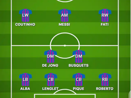 Opinion: If Koeman doesn't use either of these formations today, I would not support Barcelona again