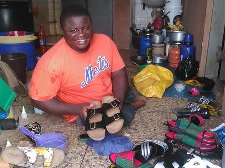 Never Give Up, See More Pictures Of Shoes Made By A Cripple Posted On Social Media (Photos)