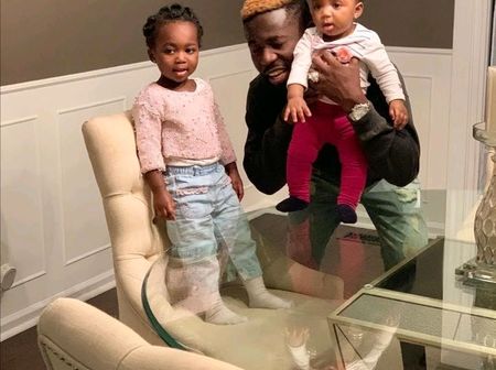Bisa Kdei Shocks Fans With His Two Adorable Daughters