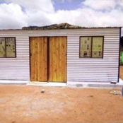 Kgomotso Lekgau built her mom a beautiful home, with the R350 she's been receiving from sassa. Photo