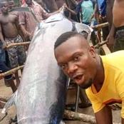After A Nigerian Man Reportedly Caught A Fish Worth Millions Of Naira, Checkout What He did With It