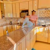 Makhadzi shows off her Mom's kitchen.check this out.