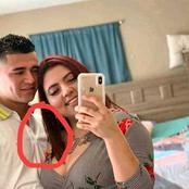 They posted their lovely picture but what people noticed sparked a reaction