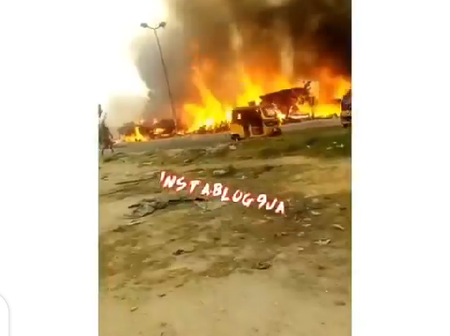Properties worth million's of naira lost as fire guts furniture shops in Lagos