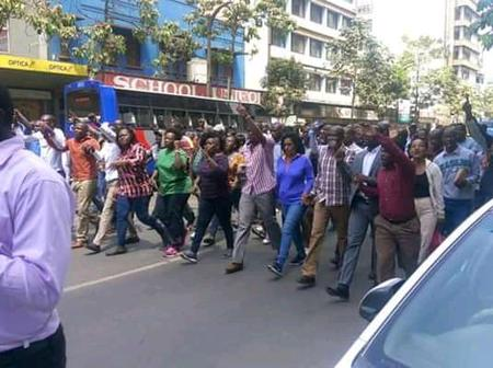 Demonstrations In Nairobi CBD, Residents Request President Uhuru To Re-open The Country