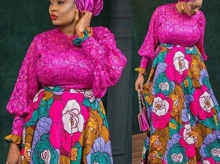 Stunning And Elegant Ankara Flare Gown Styles For Classy And Elegant Ladies