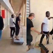 2 Nigerian Men Confronted Chinese Man Over Maltreating Black Man Who Works For Him