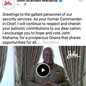 Ghanaians React As John Mahama Sends A Powerful But Inspiring Message To The Security Personnel