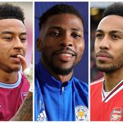 Iheanacho and Lingard scores to close gap on Aubameyang on the Golden boot table