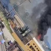 EndSARS Protest - See Pictures And Video of the National Theatre in Oregun Lagos Burnt By Hoodlums