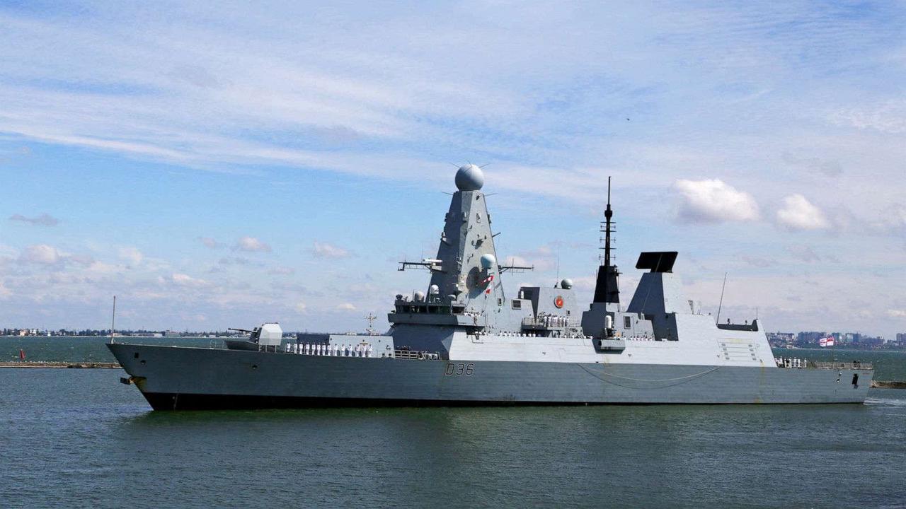 UK denies Russia fired warning shots at British warship near Crimea