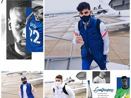 Take a look at Chelsea traveling 23-man squad to Sevilla. See some photos as they board their flight