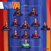La composition officiel du FC Barcelone et du Real Madrid pour le clasico