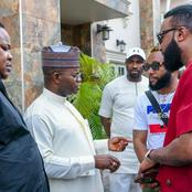 Lovely moment as Igbo billionaires, Cubana, Kcee, Emoney and others pays Kogi state governor a visit