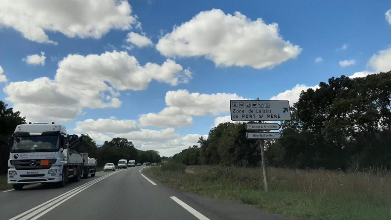 Route Nantes - Pornic : des perturbations à prévoir lors des travaux de la déviation de Port-Saint-Père